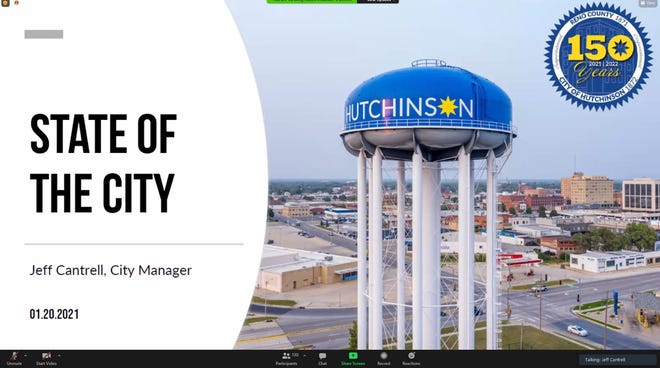 Hutchinson's State of the City was held on Zoom in 2021.