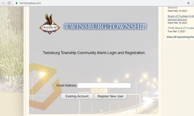 Twinsburg Township residents can sign up for alerts through Instant Connect on the township's website.