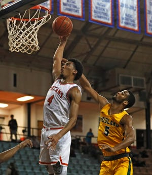 Second-ranked South Plains College returns four of its top five scorers from a team that finished 22-9 last season. Sophomore guard Benjamin Bayela (4) averaged 12.2 points per game last season.