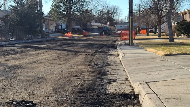 Mountain View Drive in southeast La Junta was undergoing some heavy roadwork on Wednesday. City Manager Rick Klein told La Junta City Council that