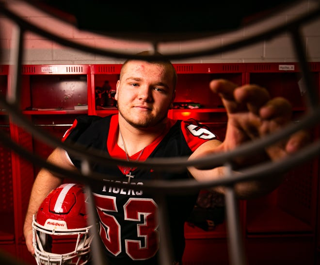 Dunnellon nose guard Colby Smith is this year's Ocala Star-Banner Defensive Football Player of the Year. Smith will be attending Dodge City Community College in Kansas in the fall.