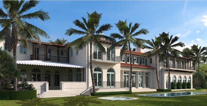 An artist's rendering of what the 1200 S. Ocean Blvd. property would like after the proposed addition is complete.