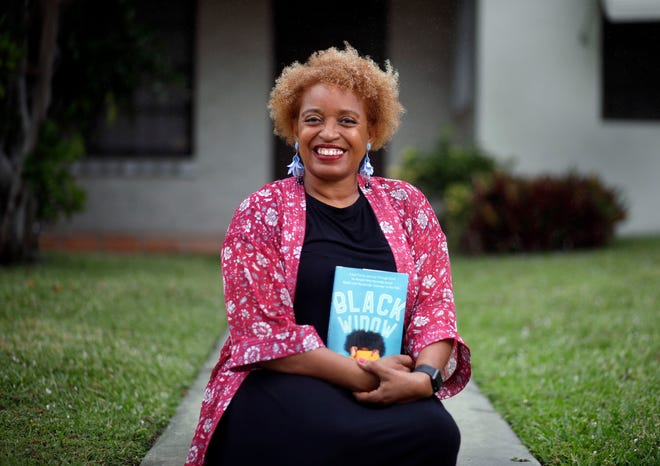 Leslie Streeter with her book Black Widow on Feb. 21, 2020. Streeter will host a virtual webinar discussing the book at 8 p.m. Thursday at the Kravis Center.
