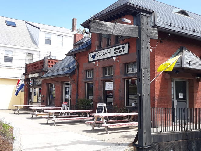 Today, the Boston and Maine Railroad Station that sits on Main Street is home to Gravy and the 1886 Barbershop.