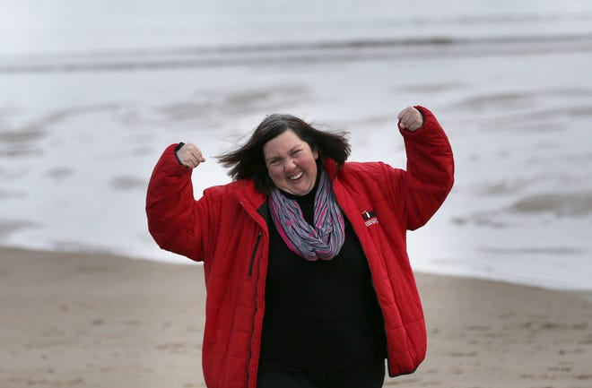Hampton's Lauren Hoepp, a Special Olympics athlete, looks forward to taking the plunge into the Atlantic Ocean at Hampton Beach to benefit Special Olympics on Feb. 7. Hoepp's team of four will show their strength for an organization they love.