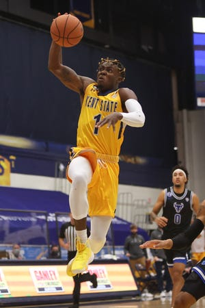 Kent State senior guard Michael Nuga suffered a knee injury during last Saturday's victory over Central Michigan. His status for Tuesday night's home game against Miami remains uncertain.