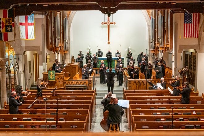"Artistic Director Joseph Culkins leads the Key Chorale Chamber Singers and a group of musicians in the ""Bach Together Again"" concert of Baroque music."
