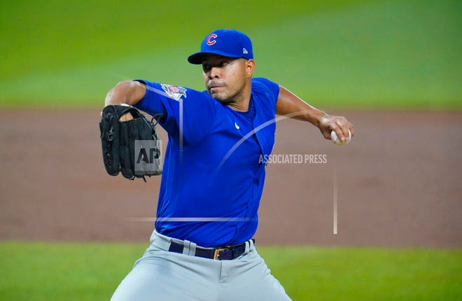 In this Sept. 22, 2020, file photo, Chicago Cubs starting pitcher Jose Quintana delivers during the first inning of the team's baseball game against the Pittsburgh Pirates in Pittsburgh.