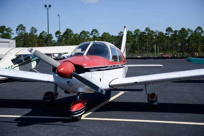 A plane at the 5th annual Wings and Wheels fly-in, car show and pancake breakfast at the Cape Fear Regional Jetport in Southport N.C. on Saturday, April 28, 2018.
