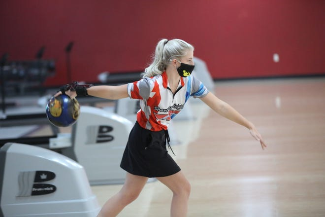 Shawnee Heights' Brylee Prockish won her second meet in two days, taking the title at Tuesday's Hayden Quad at West Ridge Lanes. Prockish rolled a career-high 656 Monday to win the Lansing Invitational and won Tuesday with a 498 despite slamming her right hand in her car door just before the meet.
