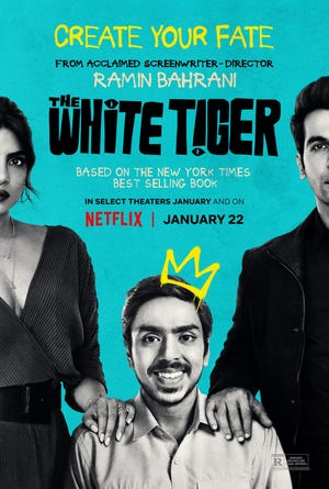 """""""The White Tiger"""" will begin streaming on Netflix beginning January 22."""