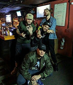 Worcester hip-hop artists, clockwise fromtop left, Danny Fantom, Giankno, K'Nen and Jafet comprise Stanton Capitol Recordings.