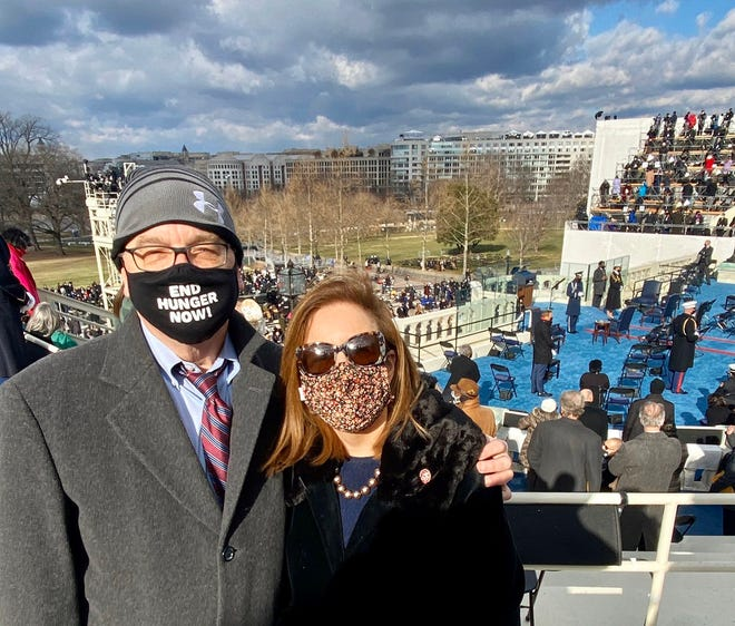 Worcester Congressman James P. McGovern and his wife, Lisa, attend the inauguration of Joe Biden and Kamala Harris.