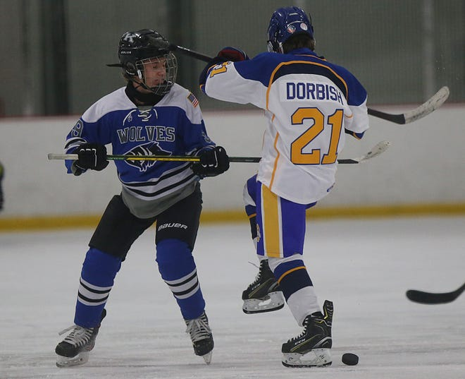 Simon Abbott had a team-leading 28 goals for Kilbourne entering play Jan. 22. He and his teammates have spent the winter getting used to   the speed of varsity play, as this is the Wolves' first season on that level since 2014-15.