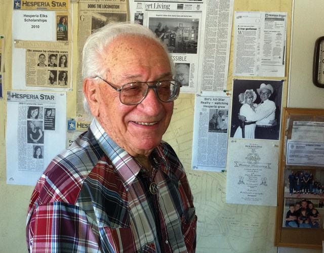 """Longtime Hesperia resident and civic leader William """"Bill"""" Alves in 2011. Alves, who served as honorary mayor of Hesperia in 1973, died Jan. 6, 2021. He was 98."""