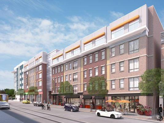 An artist's rendering of the proposed Freeport Row development in Over-the-Rhine