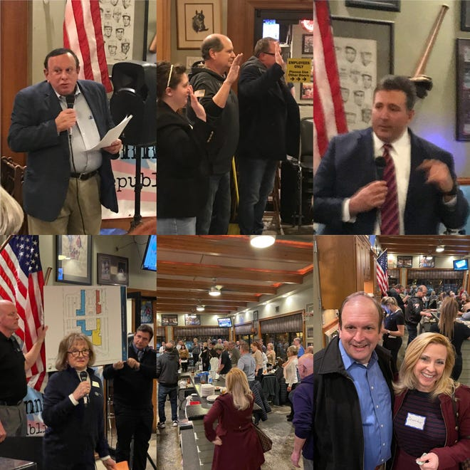 Photos shared by Hamilton County Republican County Chairman Alex Triantafilou show Republicans, including Ohio Supreme Court Justice Pat DeWine, at a large gathering without masks.