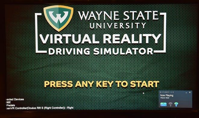 The Wayne State University virtual reality driving simulator home page.