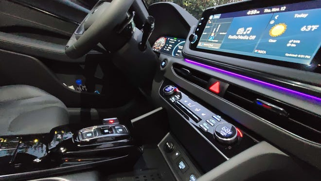 The 2021 Hyundai Sonata N Line is loaded with standard tech like wireless Apple CarPlay, trigger shifter and auto emergency braking.