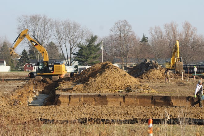Construction began in December on the three-phase, 130-home Sunset Meadows subdivision in Fremont. KF Ventures, Ltd. is building the housing development, which should have 38 homes completed for its first phase by May, according to developer Tom Kern.