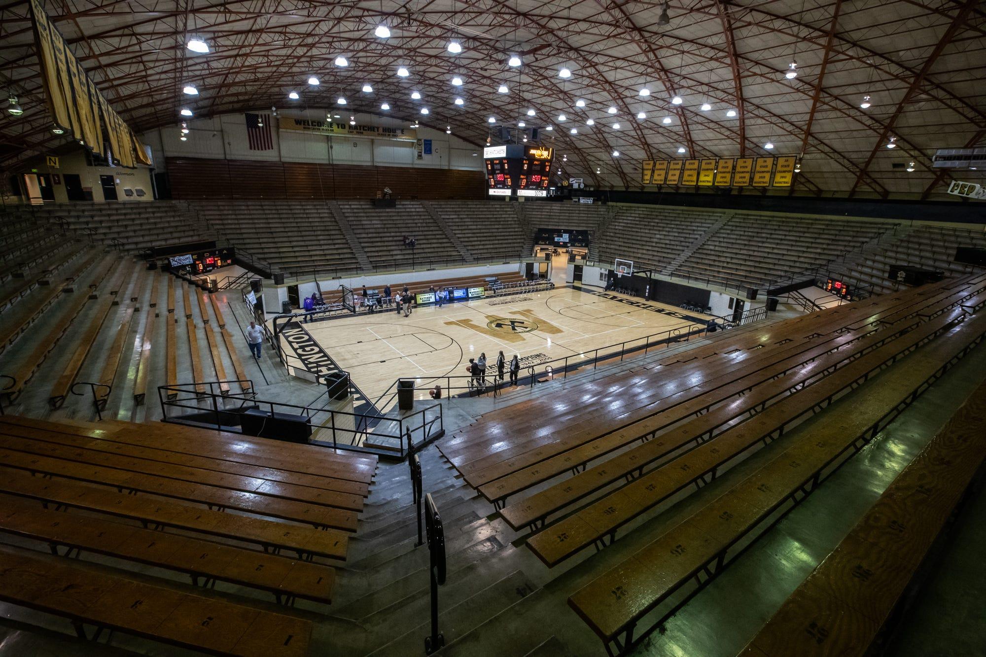 Inside Washington High School's Hatchet House on Thursday, Jan. 23, 2020. The gym holds 7090 people.