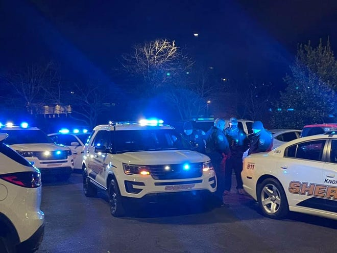 Knox County Sheriff's Office members, along with families and friends, gathered over the weekend to pray for Officer Toby Keiser and a Patrolman's wife, Sarah Stidham, who were hospitalized with COVID-19.  Keiser died Monday of complications due to the virus.