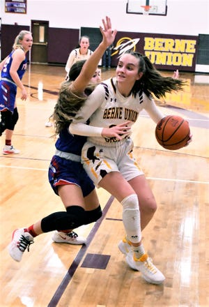 Berne Union senior Bella Kline scored 15 points Tuesday night, and in the process, became the all-time leading scorer in Berne Union history. She has now scored 1,485 career points.