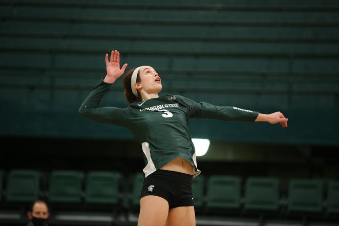 Meredith Norris is a senior captain on the Michigan State volleyball team and is the team's top returning outside hitter.