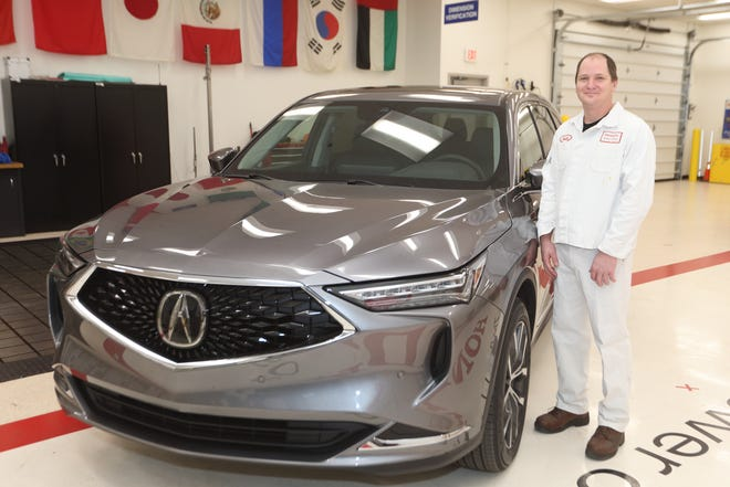Scott Spicer, 45, of Marysville, isa weld new model project leader for the 2022 Acura MDX. He has been with the company since 1997.