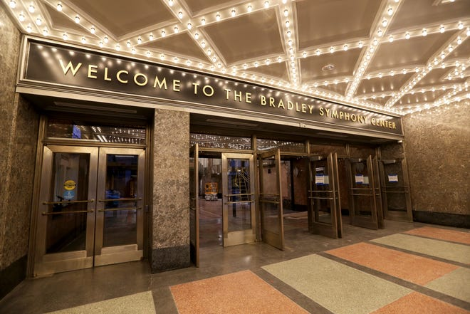 The front entrance to the Bradley Symphony Center, the Milwaukee Symphony's new concert home.