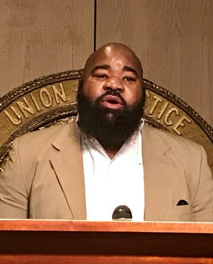 Fourth District District Judge Marcus Hunter, D-Monroe, speaks after qualifying to run in a March 20 special election for a seat on the Louisiana 2nd Circuit Court of Appeal.
