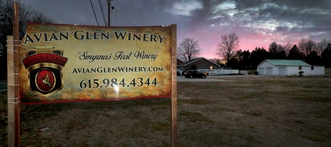 Avian Glen Winery in Smyrna on Tuesday, Jan. 19, 2021.