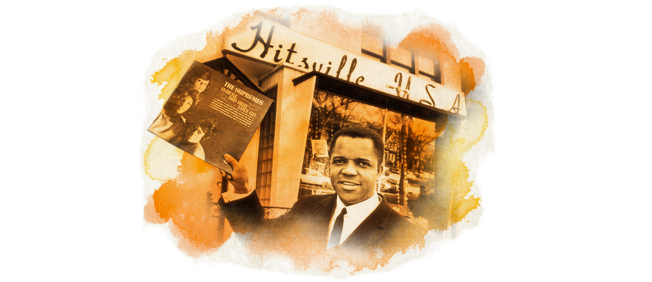 Berry Gordy Jr. outside the Hitsville USA on West Grand Boulevard in Detroit.
