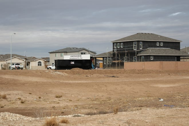 New houses being built in the Stonegate Estates west of Artesia on Jan. 20, 2021. Eddy County Assessor Gemma Ferguson said the value of residential properties in Eddy County are up.