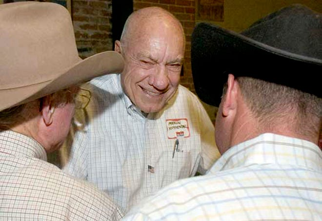 In this Sept. 1, 2009, photo, Prescott Mayor Marlin Kuykendall is seen during the primary election.