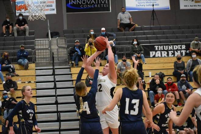 Desert Hills' center Shailee Bundy has been a game changer for the Thunder, averaging a double-double through 10 games in the 2020-2021 season.