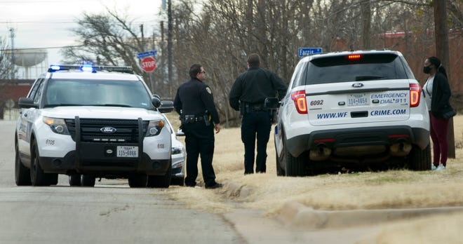 Wichita Falls Police searched for suspects Tuesday afternoon after receiving reports of gunfire near the Community Healthcare Center.