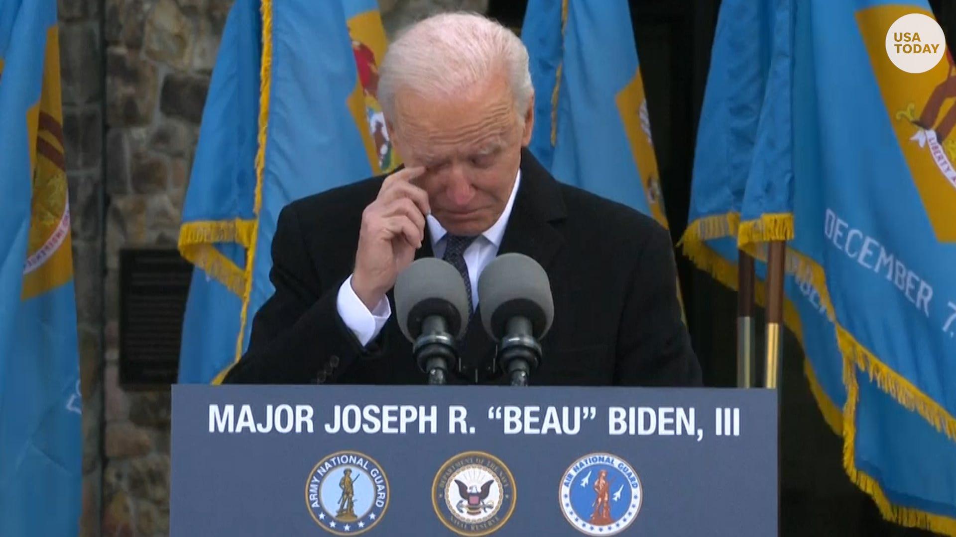 Joe Biden holds back tears as he heads to White House for inauguration
