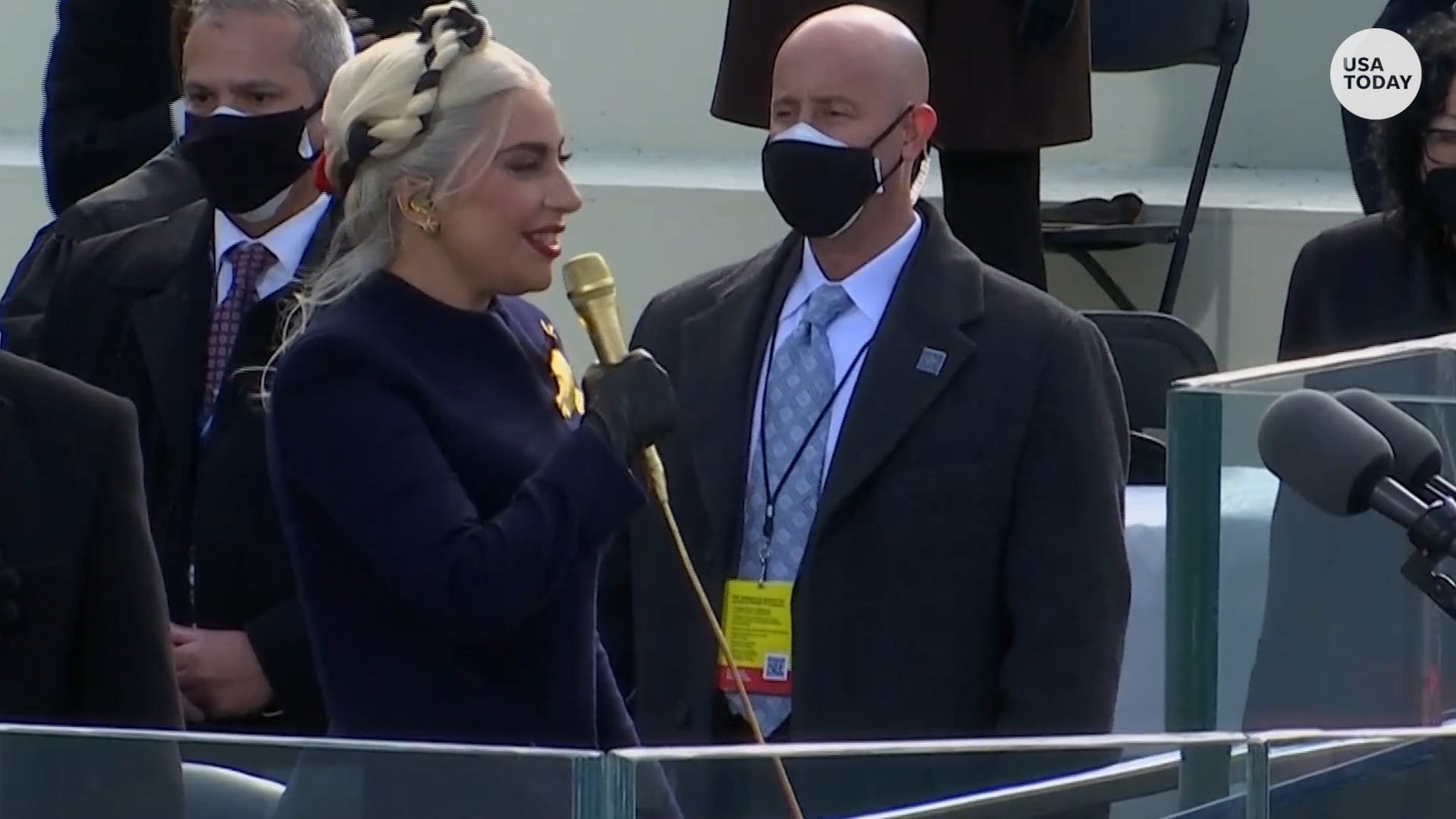 Lady Gaga sings the national anthem before Joe Biden, Kamala Harris take oath