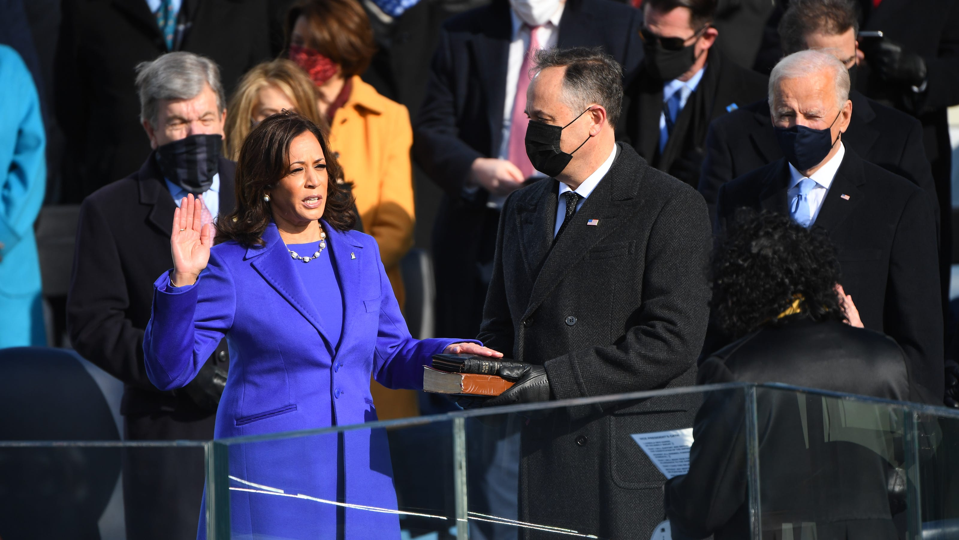 Fact check: Vice President Kamala Harris used 2 Bibles when she was sworn in