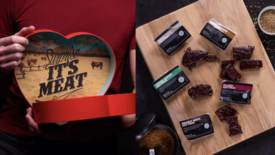 Best Valentine's Day gifts for men: Beef jerky heart.