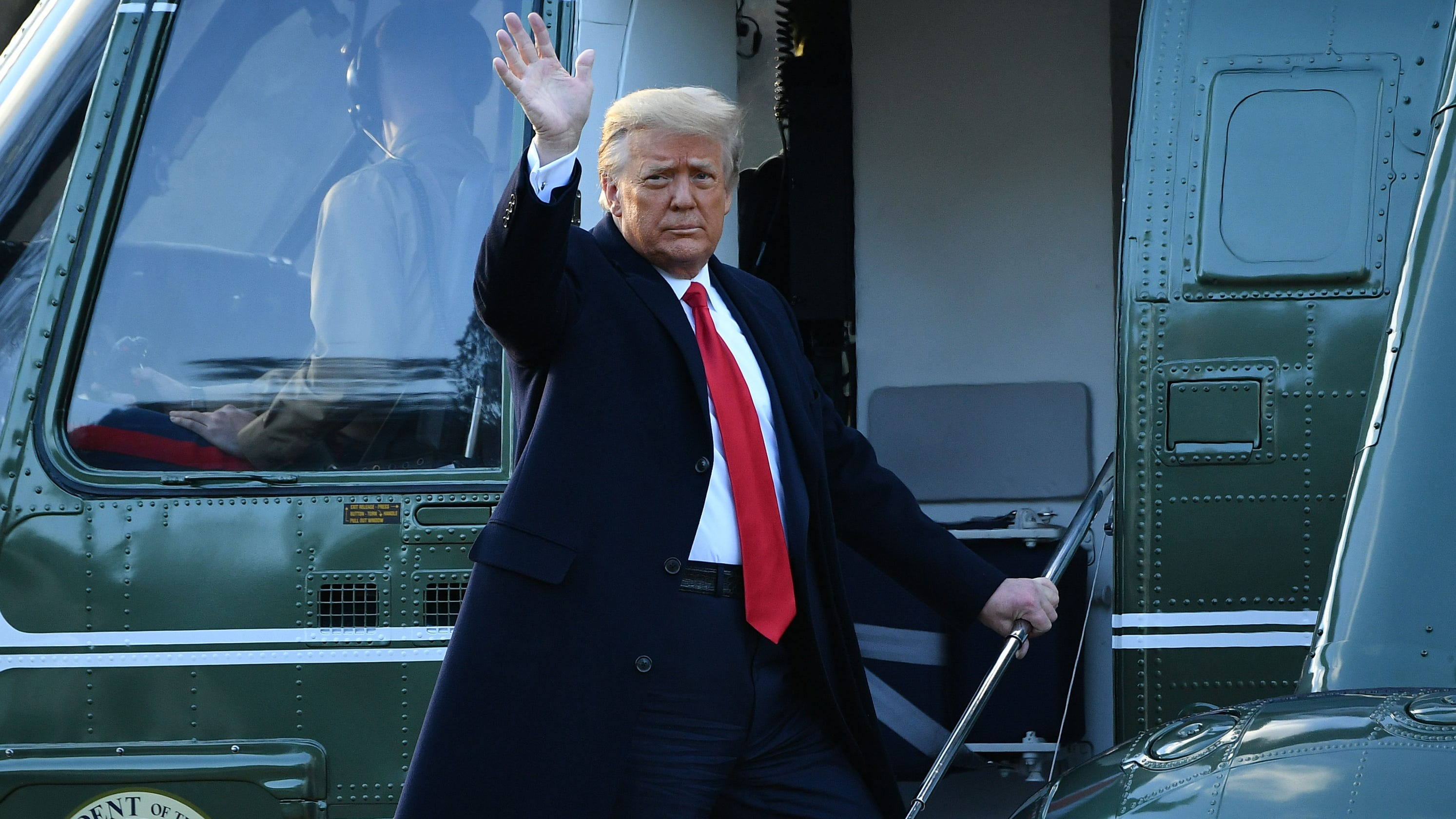 Donald Trump spends final minutes in office at Mar-a-Lago, is first president to skip inauguration in more than 150 years