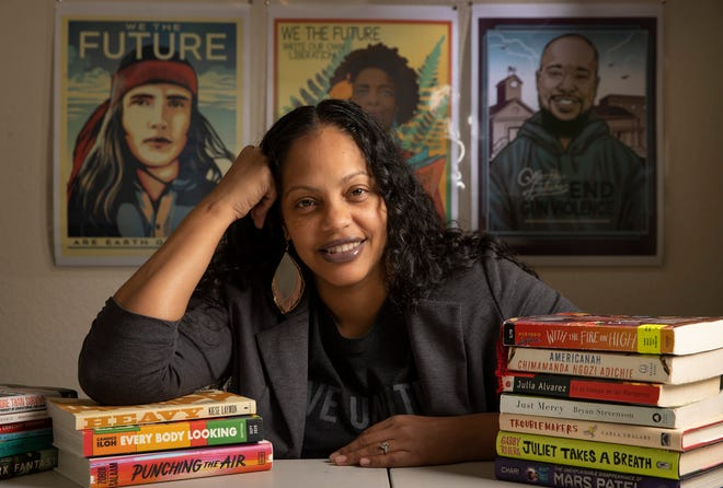 Lorena Germán, an English teacher and co-founder of Multicultural Classroom, has faced death threats over her efforts to advocate replacing books long considered the foundation of scholastic reading lists with newer books by diverse authors.