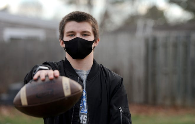 Upper Cape junior running back Mason Still is working his way back to the gridiron after tearing three ligaments in his left knee as a freshman during the 2018 football season.