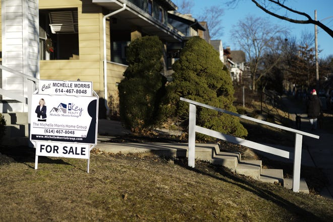 A home for sale on E. Tulane Road on Thursday, Jan. 21, 2021 in Columbus, Ohio. The housing market in this Clintonville neighborhood is highly competitive for buyers.