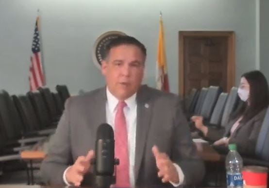 Columbus Mayor Andrew J. Ginther speaks at an online news conference on police reform on Jan. 21.
