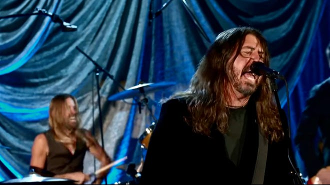 "The Foo Fighters perform ""Times Like These"" as part of the Inauguration of President Joe Biden and Vice President Kamala Harris."