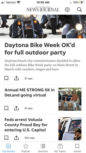 The new Daytona Beach News-Journal app has lots of great features.