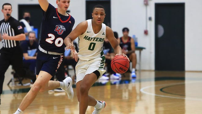 Christiaan Jones led Hatters with 17 points, adding 7 rebounds and 3 assists in a conference loss to Bellarmine on Friday in Louisville, Kentucky.