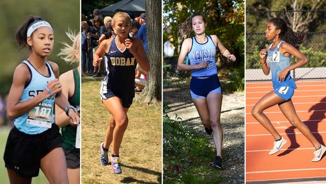 Stetson cross country head coach Bryan Harmon announced the addition of four runners to the women's program for the fall of 2021. The incoming student-athletes are, from left, Felicia Martin (Arlington, Texas); Annabelle Brink (Akron, Ohio); Elyse Pleune (Bainbridge, Ohio); and Archike Parker (Winter Springs).